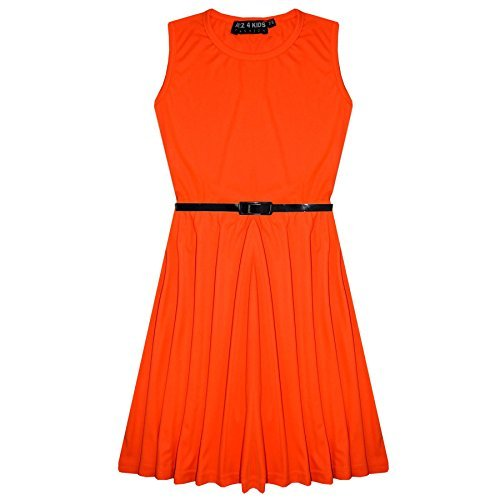 girls-skater-dress-kids-party-dresses-with-free-belt-new-age-5-6-7-8-9-10-11-12-13-years
