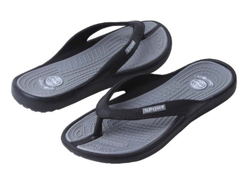 New Starbay Men'S Gray Soft Lite Flip Flops Size 10 front-592243