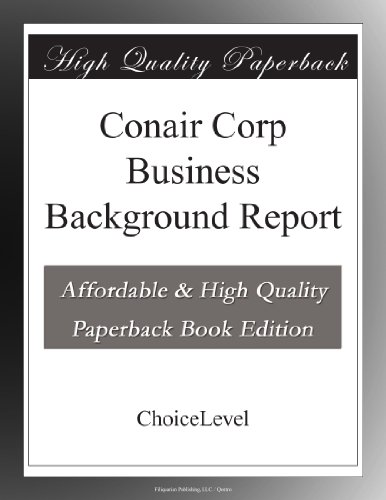 conair-corp-business-background-report