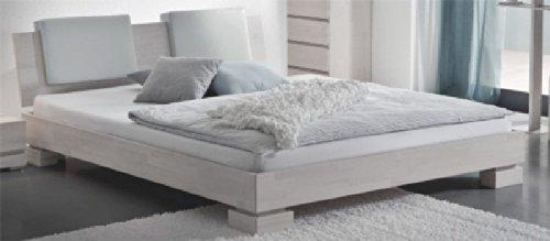 Doppelbett Betten Buche weiss massiv Penelope Ausfuhrung 2 Pharao24