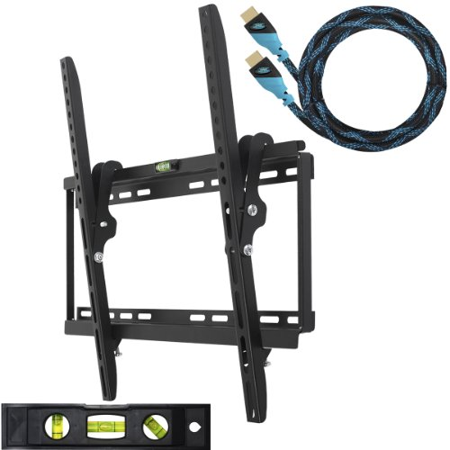 41CjqX6O66L Cheetah Mounts APTMSB Flat Screen TV Wall Mount Bracket Designed for 32 55 Plasma LED LCD TV (Actually Fits 20 55 TVs) Includes Free 10 Braided High Speed HDMI Cable With Ethernet