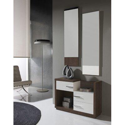 3-tlg. Garderoben-Set Farbe: Natur / Weiß