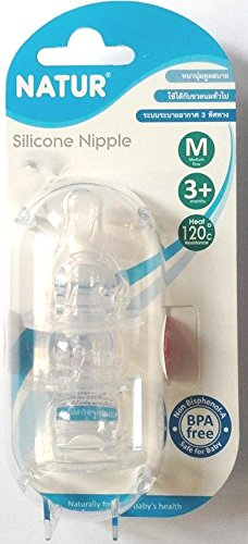 Baby Nipple Silicone Natur Triple Air Flow Bpa Free Comfortable Feeding For Up 3 Months 3 Pcs X 2 Packs front-499407