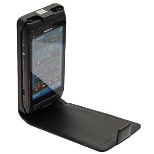 Dolce Vita passend zu Nokia N8 Ledertasche - FLIPSTYLE - Schwarz