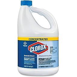 Clorox Germicidal Bleach - Liquid Solution - 121 fl oz (3.8 quart) - Clear
