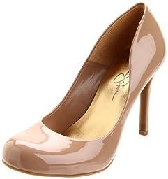 Jessica Simpson Women\'s Calie Pump,Nude Patent,10 M US