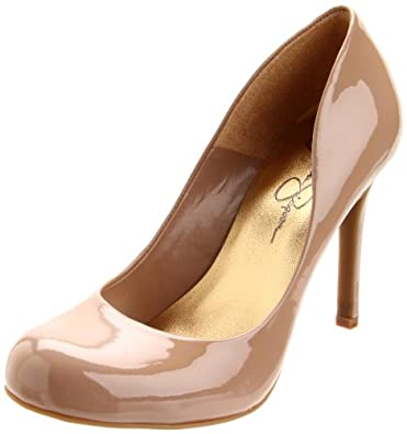Jessica Simpson Women's Calie Pump,Nude Patent,4.5 M US