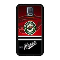 Samsung Galaxy S5 case Cool Design Minnesota Wild NHL Hockey Team Logo Sports for Men Design Hard Plastic Durable Accessories Protective Case Cover for Samsung Galaxy S5