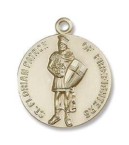 14kt Gold St. Florain Medal