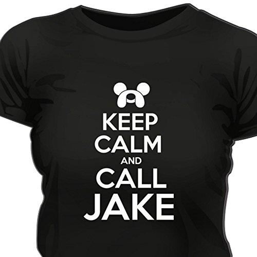 Creepyshirt - KEEP CALM AND CALL JAKE - ADVENTURE TIME INSPIRED WOMAN T-SHIRT - XXL