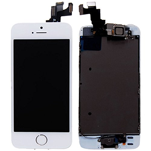 Lcd Display Touch Screen Glass Digitizer Assembly With Spare Parts (Home Button & Camera & Flex Cable) For Iphone 5S Gold