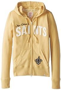 NFL New Orleans Saints Ladies Pep Rally Full Zip Hoodie by