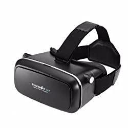 CES 2016 New Release VR Headset, BlitzWolf Virtual Reality 3D Movies Games Glasses Google Cardboard Upgraded Version for 3.5 to 6.0 inch Android Samsung Galaxy Note, IOS iPhone 6 6s