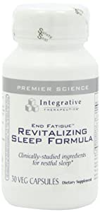 Integrative Therapeutics End Fatigue Revitalizing Sleep Formula, 30 Veg Capsules