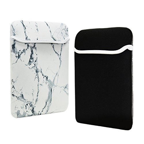 TOP CASE - Marble Pattern Reversible Sleeve Bag Cover for Most 13