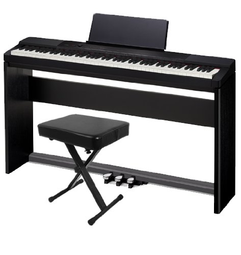 Casio PX-150 Black Digital Piano HOME PAK w/ Wood Stand & X-Bench