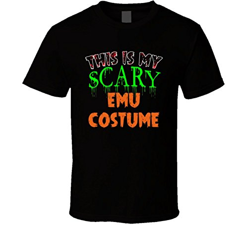 This Is My Scary Emu Halloween Costume Funny Animal T Shirt 2XL Black (2)