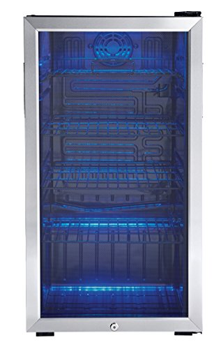 Danby 120 Can Beverage Center, Stainless Steel DBC120BLS (Mini Fridge Glass Front Door compare prices)