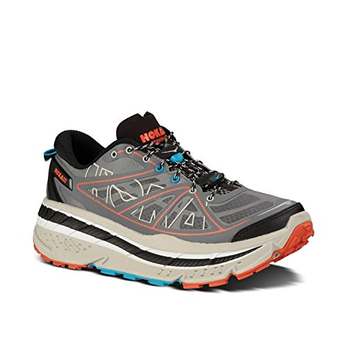 Hoka One One Men's M Stinson Atr Anthracite/Grey/Red Running Shoe 10 Men US
