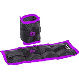 RBX 2 Lb 2 Pound Ankle Wrist Weights (PURPLE/BLACK)