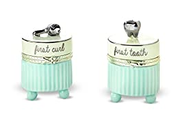 Mud Pie Baby Boy Blue and Platinum Tooth and Curl Set
