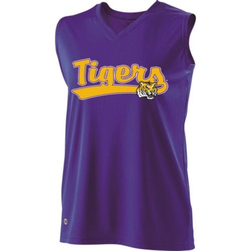 SLEEVELESS V-NECK LSU TIGERS Girls Curve Dry-Excel ADULT 2XL Licensed NCAA College Replica Jersey at Amazon.com