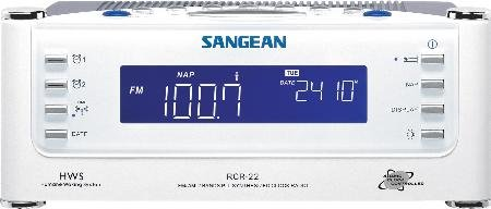 Sangean Clock Radio Aux Blue Backlit Large Illuminated Lcd Screen Separate Adjustable Nap