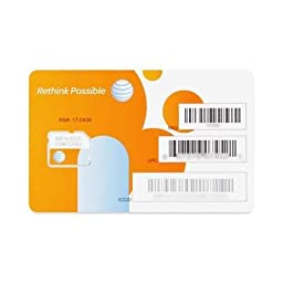 ATT Micro Sim Cards, Packs. 1 pack = 10 sim cards