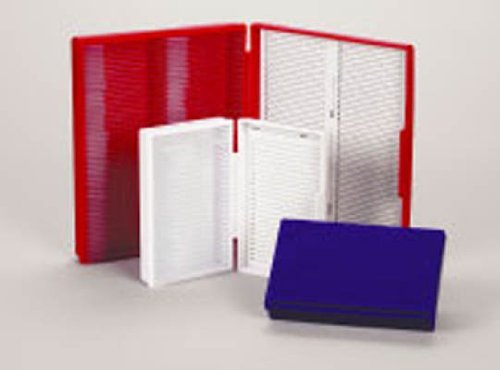Heathrow HS15990C Microscope Slide Box, 25-Place, White - 1