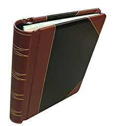 Corpkit Corporate Records, 3 Post Minute Book: 1/4 Bind Leather Binder, 8.5 x 11, Minute paper