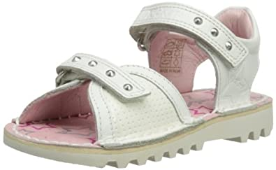 Kickers Girls Kick Stud Sandals 112686 White 5 UK Child, 22 EU
