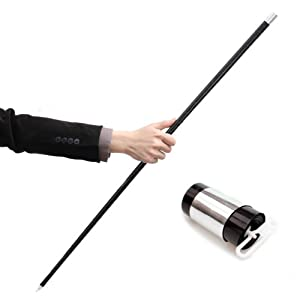 Black Plastic Appearing Cane with Video Tutorial - Stage Magic Trick