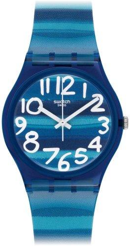 Swatch Unisex-Armbanduhr Linajola Analog Quarz Plastik GN237