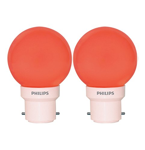 Deco Mini 0.5W LED Bulb (Red, Pack of 2)