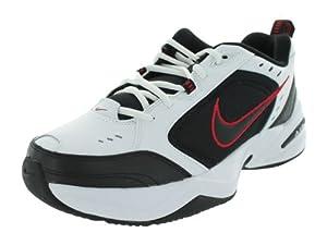 Nike Men's NIKE AIR MONARCH IV RUNNING SHOES 9 (WHITE/BLACK/VARSITY RED)