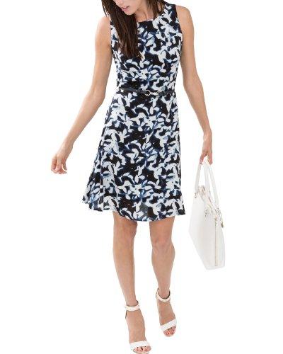 Comma Damen Kleid, Mini, Gr. 42 (Herstellergröße: 42), Mehrfarbig (blue AOP)