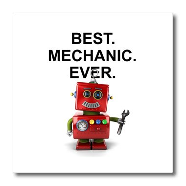 Carsten Reisinger - Illustrations - Best Mechanic Ever toy robot with wrench - 10x10 Iron on Heat Transfer for White Material (ht_236317_3) (Mechanic Pics compare prices)