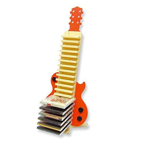 CD DVD Ständer als Gitarre aus Holz Bausatz für Kinder und Jugendliche ab Schulstufe 6