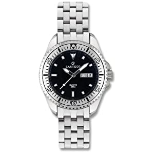 Men's Sartego Ocean Master Watch Black Dial