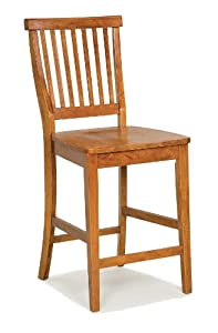 Home Styles 5004-89 Distressed Oak Finish Bar Stool, 24-Inch