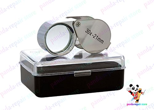 New Pocket Portable Jeweler Lens 30x21mm Loupe Magnifying Magnifier Eye Glass