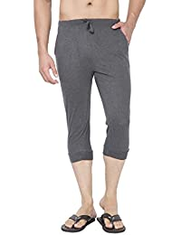 Clifton Men's Thin Stripe Comfort Capri - Charcoal Melange/Grey Melange
