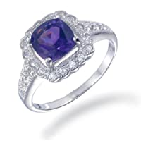 Vir Jewels Sterling Silver Amethyst Ring (1.10 CT) by Vir Jewels