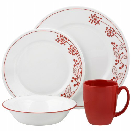 Vive Berries and Leaves 16 Piece Dinnerware Set