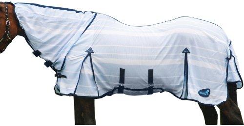 Masta Striped Fly Mesh - White/Blue, 6 Ft