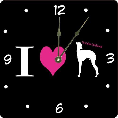 "Rikki Knighttm I Love My Italian Greyhound Dog Design 13"" Art Wall Clock front-610149"