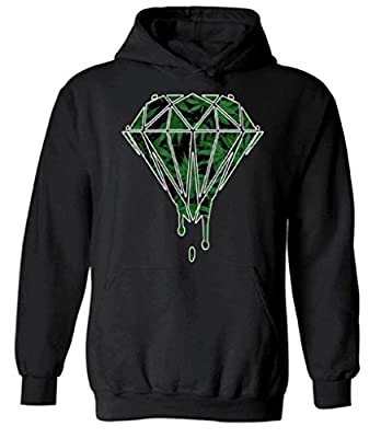 Raxo Weed Diamond Dripping Hoodie Kush Cannabis Marijuana Hooded Sweatshirt