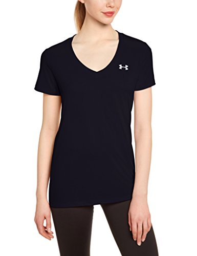 under-armour-womens-tech-v-neck-solid-short-sleeve-shirt-black-medium
