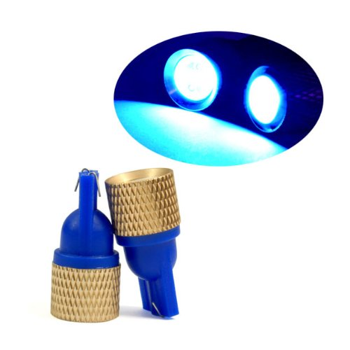 Blue Super Bright Indicator Corner Turn Signal Light Lamp Led Bulb 12V Dc 2 Pcs Warranty