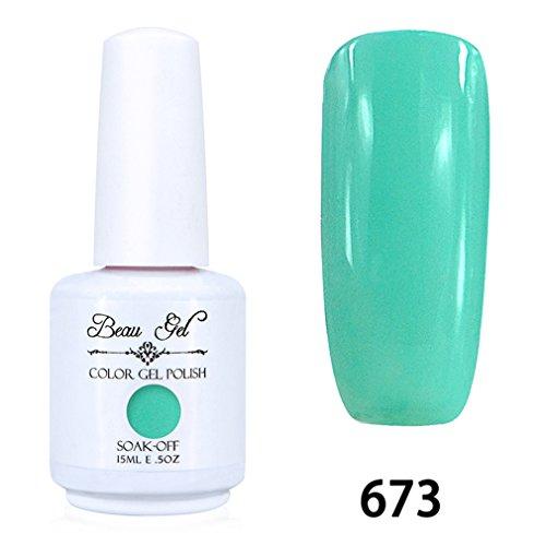 Beau Gel Vernis A Ongles Gel UV Soak Off Base Top Nail Art Semi Permanent Manucure 15ml 673